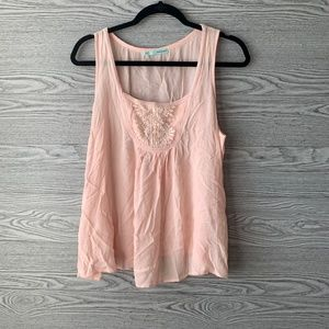 Maurices Pink Decorative Buttons Light Tank Top